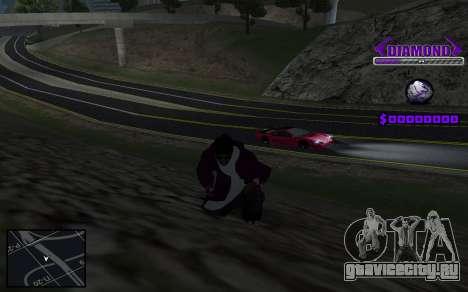 C-HUD Diamond Gangster для GTA San Andreas третий скриншот