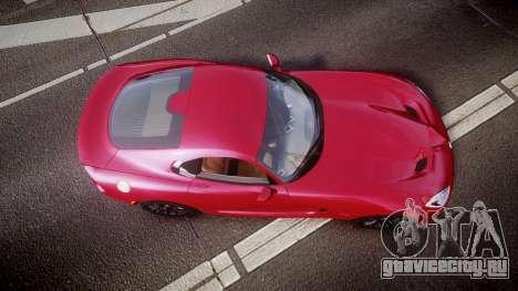 Dodge Viper SRT 2012 для GTA 4 вид справа