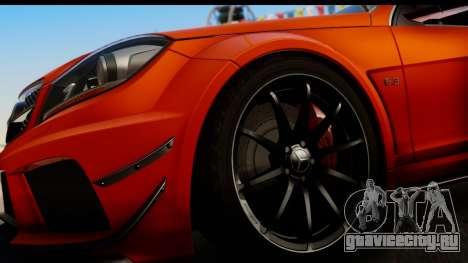 Mercedes-Benz C63 AMG 2012 Black Series для GTA San Andreas вид изнутри