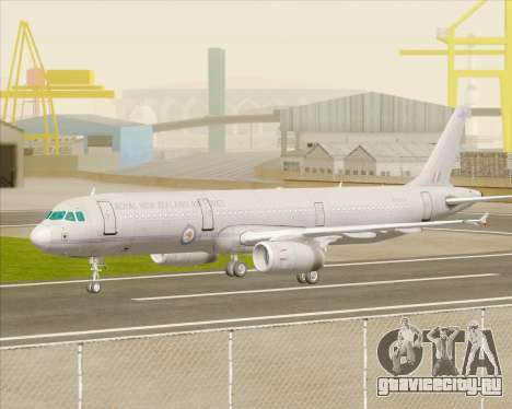 Airbus A321-200 Royal New Zealand Air Force для GTA San Andreas вид сзади