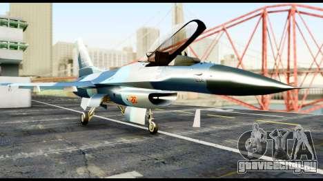 F-16 Aggressor Alaska для GTA San Andreas вид справа