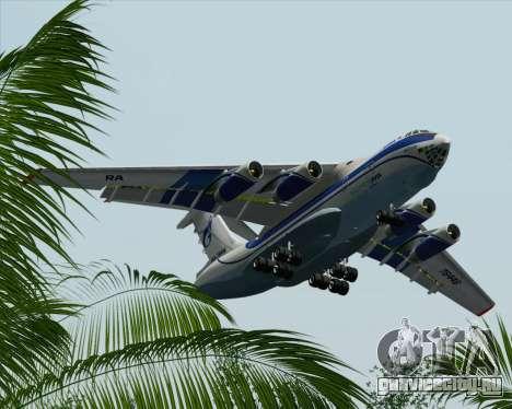 ИЛ-76ТД Газпром авиа для GTA San Andreas вид снизу