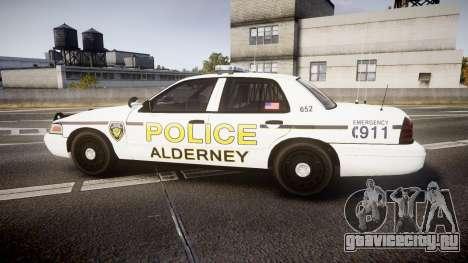 Ford Crown Victoria Police Alderney [ELS] для GTA 4 вид слева