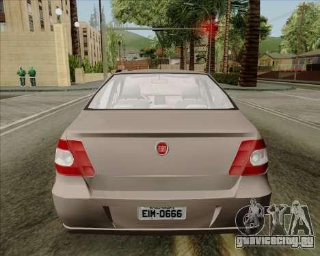 Fiat Siena 2008 для GTA San Andreas вид сзади