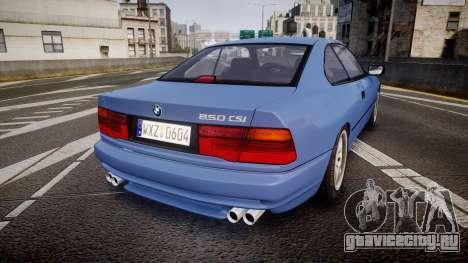 BMW E31 850CSi 1995 [EPM] для GTA 4 вид сзади слева
