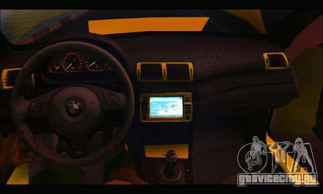 BMW M3 Coupe Tuned для GTA San Andreas вид изнутри
