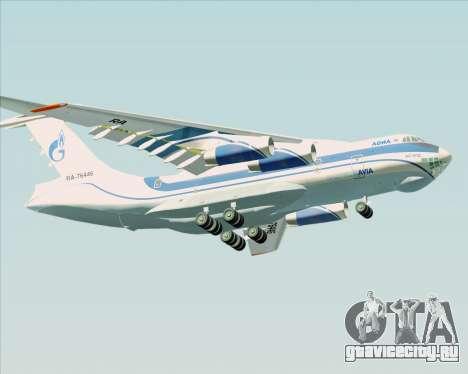 ИЛ-76ТД Газпром авиа для GTA San Andreas вид изнутри