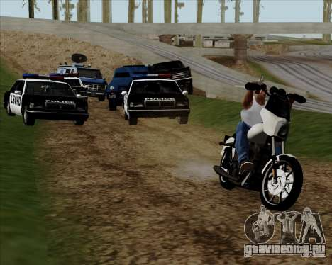 Harley-Davidson FXD Super Glide T-Sport 1999 для GTA San Andreas вид сбоку