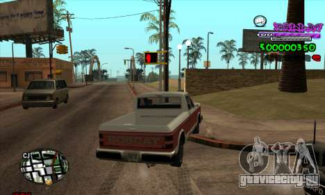 C-HUD Ballas для GTA San Andreas второй скриншот