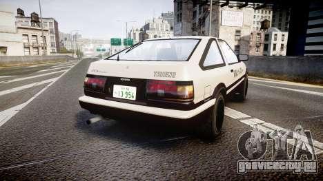 Toyota AE86 Tofu для GTA 4 вид сзади слева