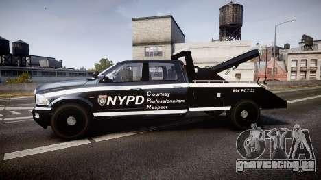 Dodge Ram 3500 NYPD [ELS] для GTA 4 вид слева