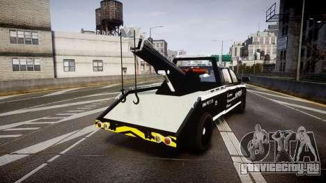 Dodge Ram 3500 NYPD [ELS] для GTA 4 вид сзади слева