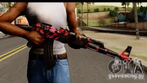 Red Tiger AK47 для GTA San Andreas третий скриншот