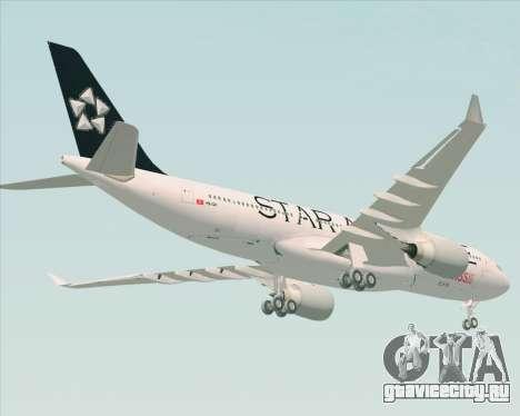 Airbus A330-200 SWISS (Star Alliance Livery) для GTA San Andreas вид сзади слева