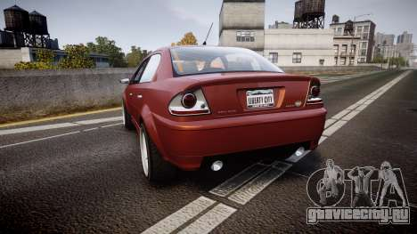 Declasse Premier Sport R для GTA 4 вид сзади слева