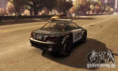 GTA V Ubermacht Sentinel Police [ELS] для GTA 4 вид слева