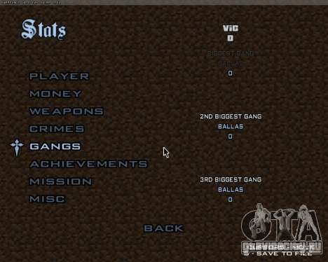 Minecraft Меню для GTA San Andreas третий скриншот