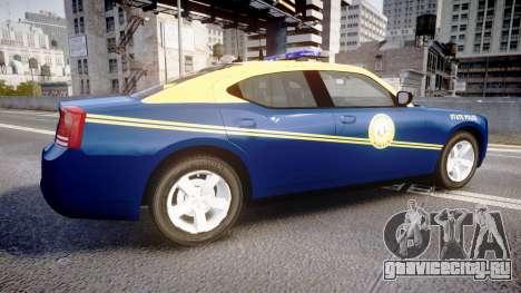 Dodge Charger West Virginia State Police [ELS] для GTA 4 вид слева