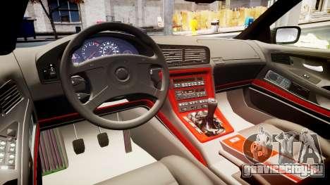 BMW E31 850CSi 1995 [EPM] для GTA 4 вид изнутри