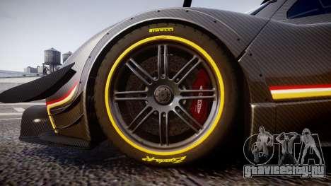 Pagani Zonda Revolution 2013 для GTA 4 вид сзади