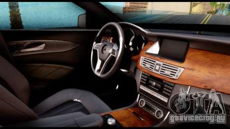 Mercedes-Benz CLS 63 AMG 2010 для GTA San Andreas вид справа