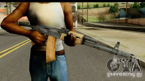 АКС-74 из Светлого Дерева для GTA San Andreas третий скриншот