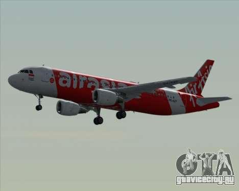Airbus A320-200 Indonesia AirAsia для GTA San Andreas вид снизу