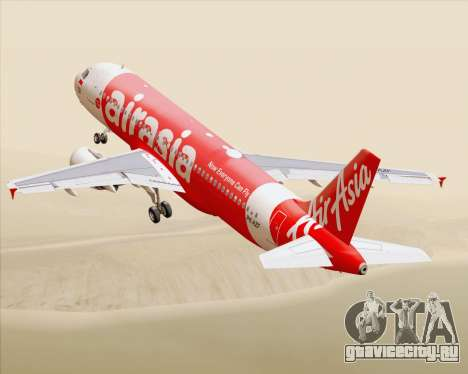 Airbus A320-200 Indonesia AirAsia для GTA San Andreas салон