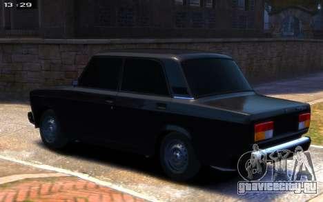 ВАЗ 2107 R13 для GTA 4 вид слева
