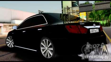 Toyota Camry 2013 для GTA San Andreas вид слева
