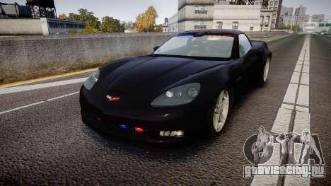 Chevrolet Corvette Z06 Unmarked Police [ELS] для GTA 4