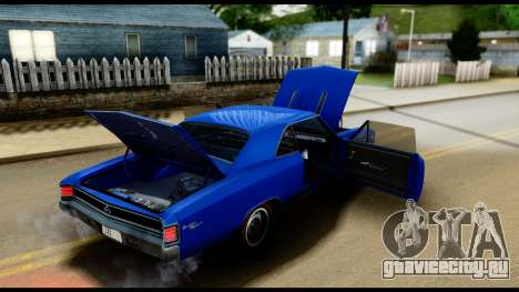 Chevrolet Chevelle SS 396 L78 Hardtop Coupe 1967 для GTA San Andreas вид сбоку