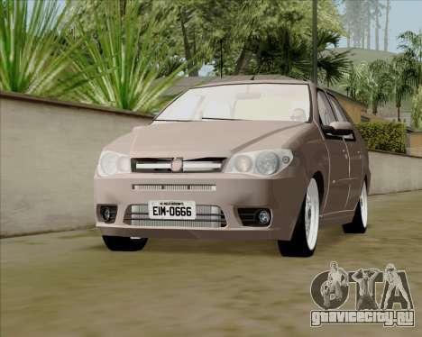 Fiat Siena 2008 для GTA San Andreas вид справа