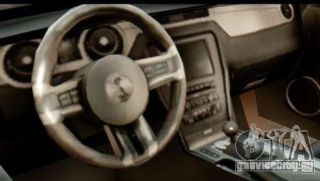 Ford Shelby GT500 RocketBunny для GTA San Andreas вид сзади