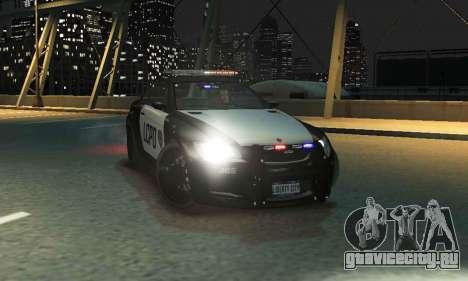 GTA V Ubermacht Sentinel Police [ELS] для GTA 4 вид сзади слева