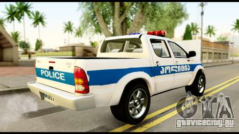 Toyota Hilux Georgia Police для GTA San Andreas вид слева