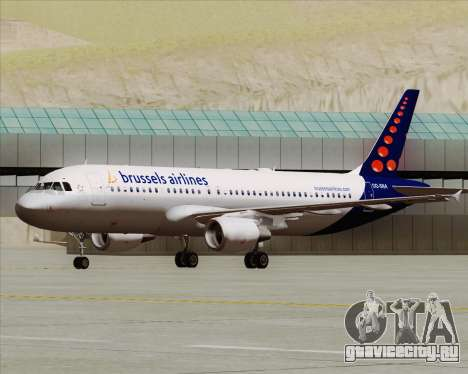 Airbus A320-200 Brussels Airlines для GTA San Andreas вид слева