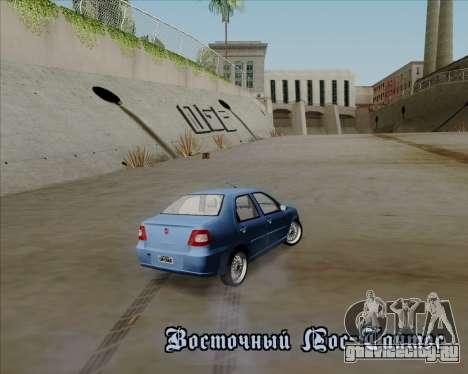 Fiat Siena 2008 для GTA San Andreas вид сверху