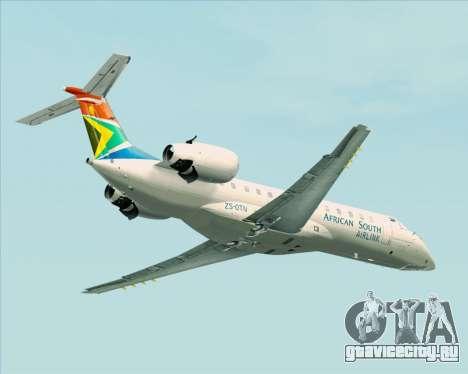 Embraer ERJ-135 South African Airlink для GTA San Andreas вид сзади