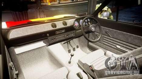 Ford Escort RS1600 PJ63 для GTA 4 вид изнутри