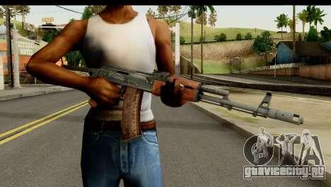 АКС-74 из Тёмного Дерева для GTA San Andreas третий скриншот