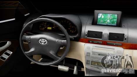 Toyota Camry 2013 для GTA San Andreas вид изнутри