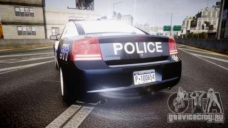 Dodge Charger 2006 Algonquin Police [ELS] для GTA 4 вид сзади слева