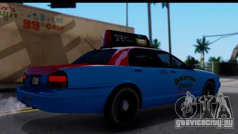 Taxi Vapid Stanier II from GTA 4 для GTA San Andreas вид сзади слева
