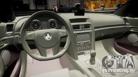 Holden Commodore Omega Series II Taxi v3.0 для GTA 4 вид сзади