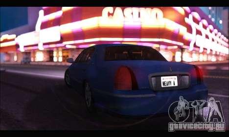 Lincoln Towncar (IVF) для GTA San Andreas вид слева