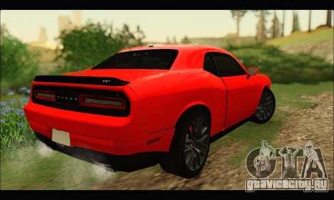 Dodge Challenger SRT HELLCAT 2015 для GTA San Andreas вид сзади слева