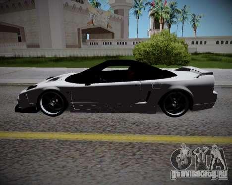 Honda NSX 2015 для GTA San Andreas вид сзади слева