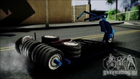 Vespa Gembel Extreme для GTA San Andreas вид сзади слева
