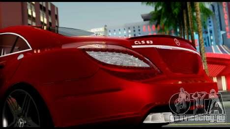 Mercedes-Benz CLS 63 AMG 2010 для GTA San Andreas вид сбоку